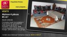 A vendre - maison - MAZE (49630) - 4 pièces - 85m²