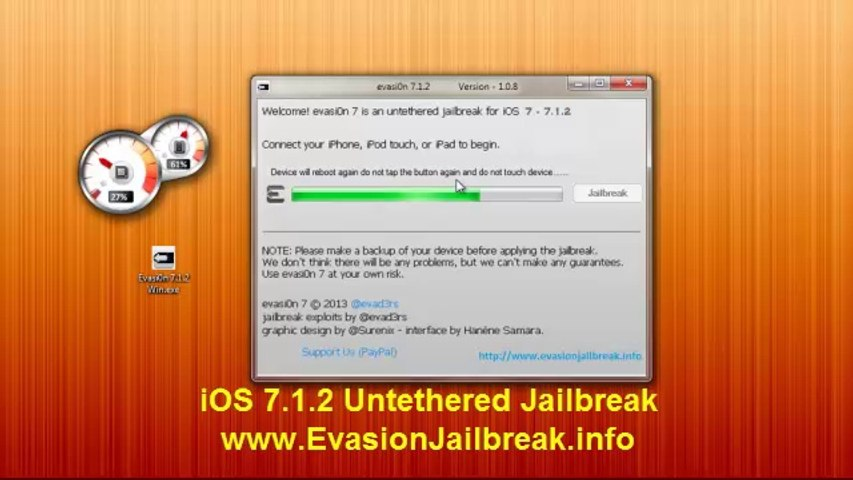 Download Links Evasion iOS 7.1.2 jailbreak UNTETHERED for all iPhones iPods iPads