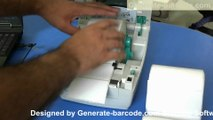 How to print barcode labels by using thermal printer.