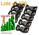 Best Deals Cosmos ® 120 PCS 5/8 Inch Economy Contoured Side Release Plastic Buckles with Cosmos Fastening Strap Review