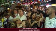 Torcedor alemão beija jornalista ao vivo nos EUA