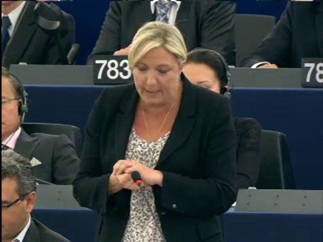 Intervention de Marine Le Pen au Parlement européen