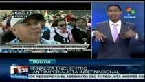 Finaliza en Bolivia el Encuentro Antiimperialista Internacional