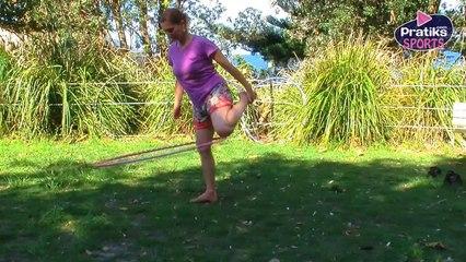 Hula Hoop - Comment faire du hula hoop avec une seule jambe