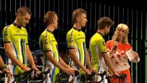Peter Sagan and team Cannondale at the team presentation Tour de France 2014