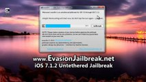 Evasion iOS 7.1.2 Untethered Jailbreak outil pour l'iPhone 5 , iPhone 4, iPhone 3GS , iPad3