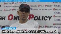 フィリピン留学2ヶ月マニラC21英語学校 TOEIC留学で815点を超える