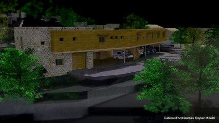 Etudes d'avant-projet définitif ( APD ) de la future gendarmerie de Propriano en Corse du Sud en animation de synthèse