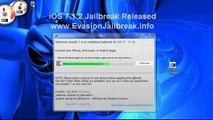 HowTo ios 7.1.2 JAILBREAK UNTETHERED Evasion iPhone 5S,5C,4S,4,iPod Touch 5 & iPad Mini 2, Air,4,3