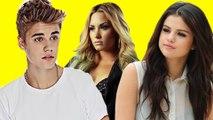 Justin Bieber Behind Demi Lovato Selena Gomez FEUD - DETAILS