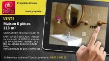 A vendre - maison - SAINT ANDRE DES EAUX (44117) - 6 pièces - 113m²
