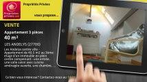A vendre - appartement - LES ANDELYS (27700) - 3 pièces - 40m²