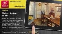 A vendre - maison - BEAUFORT EN VALLEE (49250) - 3 pièces - 65m²