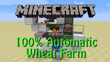 Minecraft: How to build a Fully Automated Wheat Farm, 1.8 Tutorial