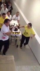 Funcionária filma Neymar no Hospital