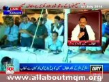 Nation Stands For Army Against Terrorists: MQM Altaf Hussain Talk to workers at Jinnah Park Karachi