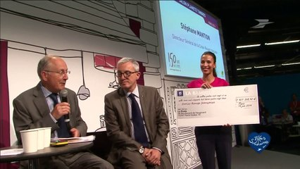 Remise du cheque à la Croix Rouge 2014 / Groupe La Poste - Tous formidables - Tous solidaires