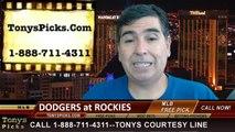 MLB Odds Colorado Rockies vs. LA Dodgers Pick Prediction Preview 7-6-2014