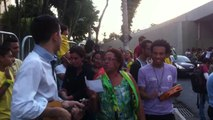 Les supporters brésiliens donnent de la voix dans la rue
