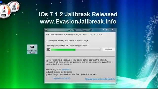 Download Evasion 7 1 2 Jailbreak Full Untehered iOS 7 iPhone iPod Touch