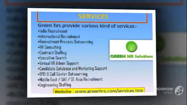 Greenhrs Recruitment consultancy for job seeker