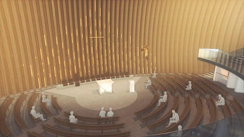 visite virtuelle de la cathédrale de Créteil - 1er juillet 2014