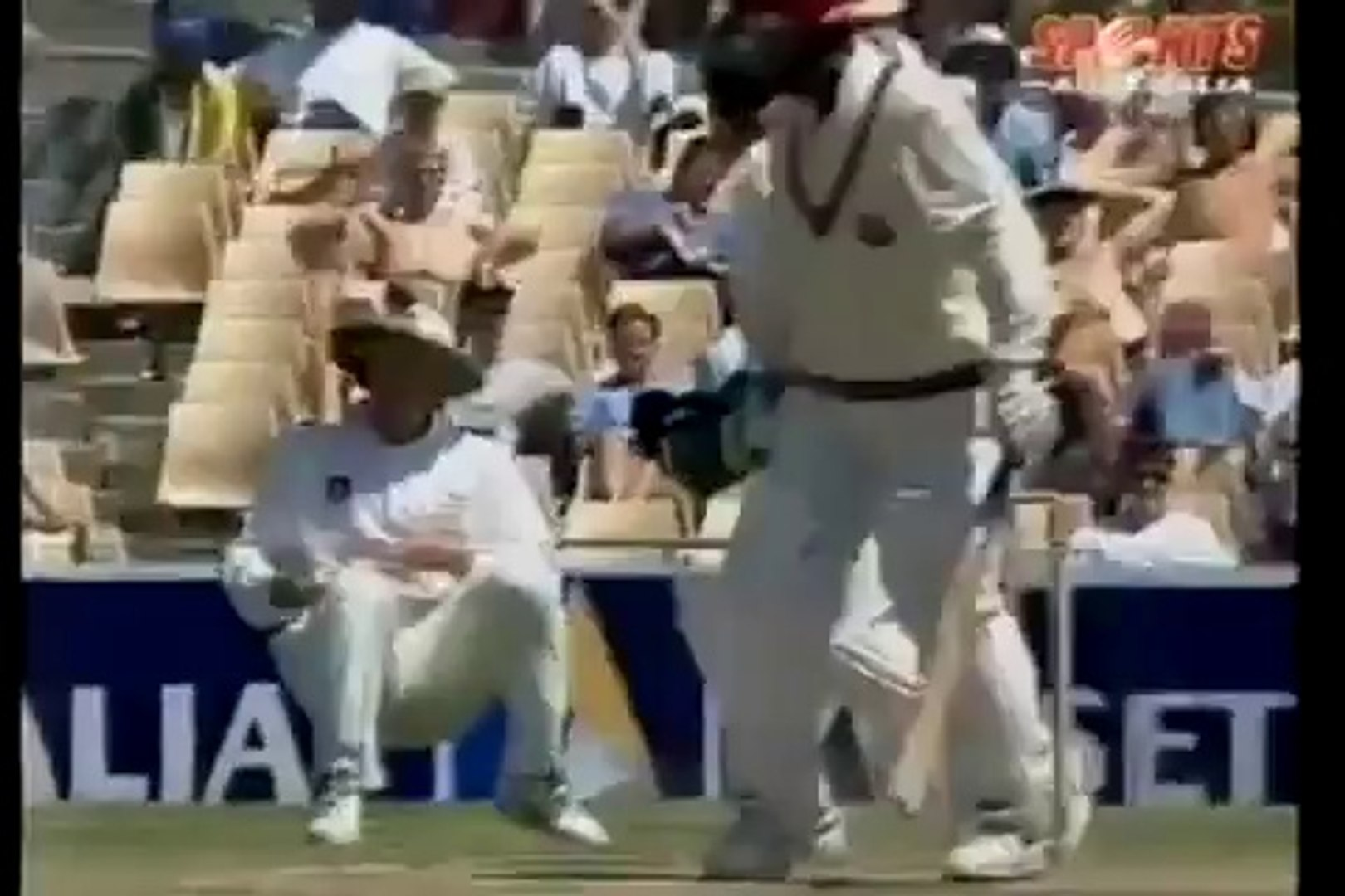 BEST CATCH EVER Mark Taylor takes a crazy catch off Michael Bevan's bowling