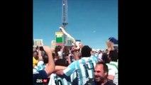 Coupe du monde Brésil 2014: Les supporters argentins fou de joie pour la blessure de Neymar !