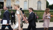 Charlize Theron Looks Incredible In Gold Dior Mini Dress With Sean Pean At Paris Haute Couture Fashion Week