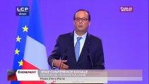 Discours de François Hollande d'introduction à la Conférence sociale - Evénements
