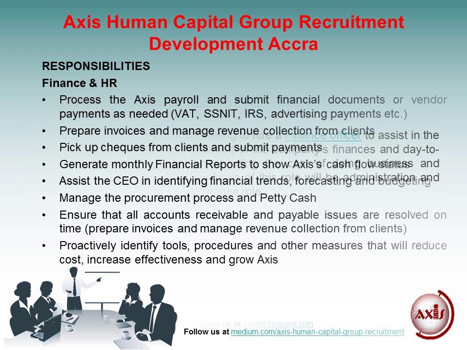 Axis Human Capital Group Recruitment Development Accra: Jobs for Finance Officer