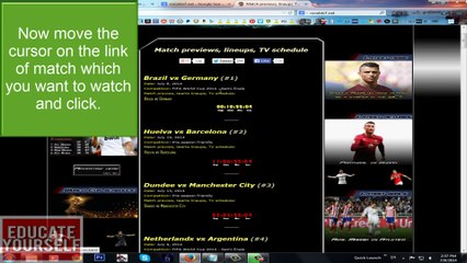 How to Watch Football Matches Live