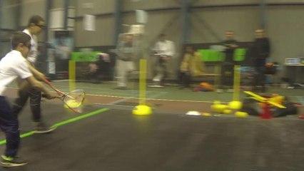 "Mini-Squash - Exercice ""Le Hockey"""