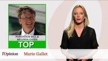Le Top : Fondation Bill & Melinda Gates / Le Flop: Guy Bedos