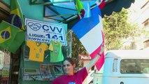 Coupe du Monde: les bleus sont très populaires à Ribeirao Preto