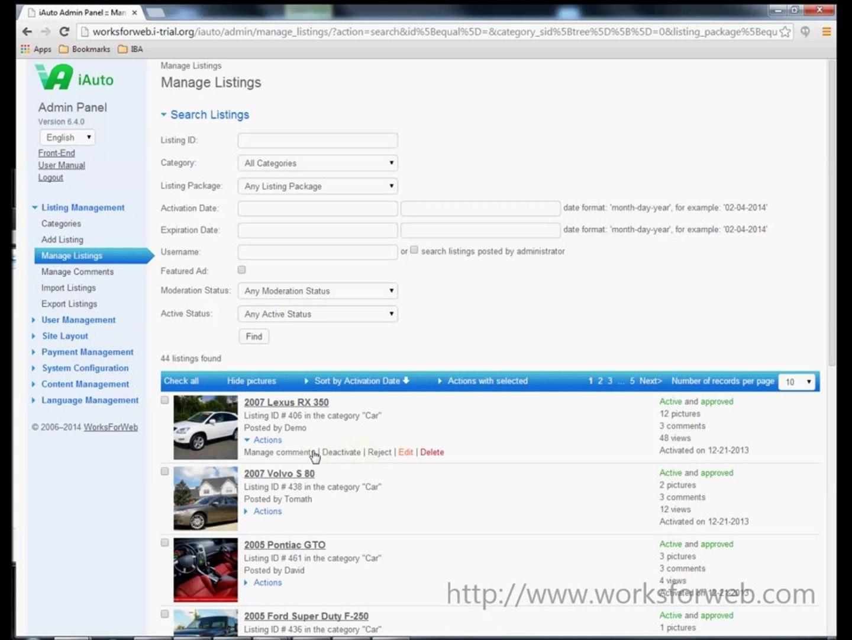 WorksForWeb PHP Scripts Tutorial. Admin Panel Part 1.