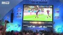 Football / Contraste entre supporters allemands et brésiliens sur Copacabana - 08/07