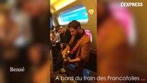Concert improvisé dans le train des Francofolies