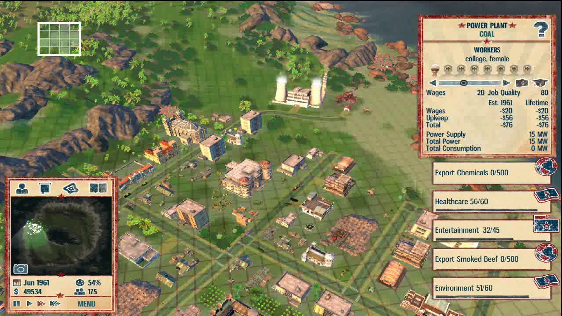 Forced Showdown Gameplay pc - tropico 4 - campaign 1 - rise to power - part 2