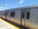 Rockaway Park Shuttle train at Beach 90th Street-Holland