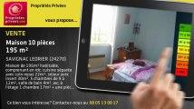 A vendre - maison - SAVIGNAC LEDRIER (24270) - 10 pièces - 195m²