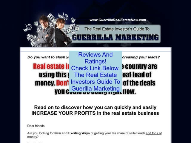 Discount on The Real Estate Investors Guide To Guerilla Marketing