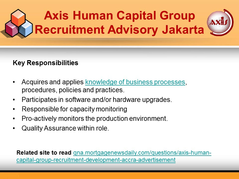 Axis Human Capital Group Recruitment Advisory Jakarta – Jobs for IT Support Specialists