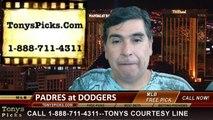LA Dodgers vs. San Diego Padres Pick Prediction MLB Odds Preview 7-10-2014