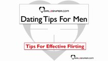 Dating Tips For Men - Tips For Effective Flirting
