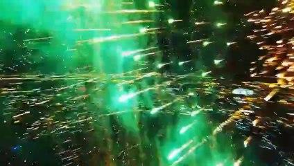 Fireworks inside view