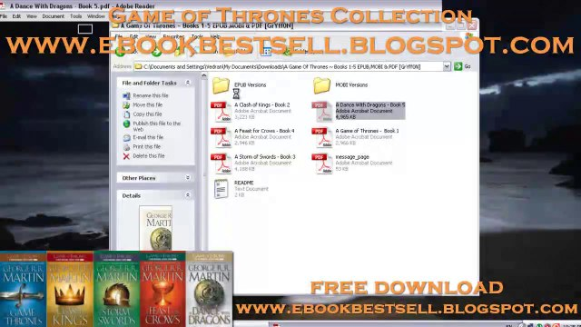 Download Game of Thrones Audiobook - Download Collection 5 Books _ EPUB -  MOBI - PDF - Audiobook