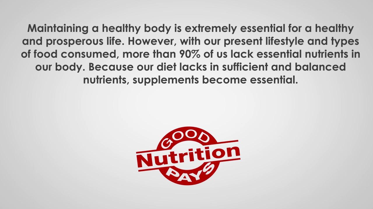 Major types of health food supplement