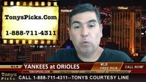 Baltimore Orioles vs. New York Yankees Pick Prediction MLB Betting Lines Odds Preview 7-11-2014