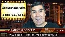 MLB Pick LA Dodgers vs. San Diego Padres Odds Prediction Preview 7-11-2014